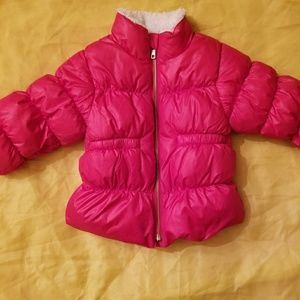 Red Old Navy Winter Puffer Coat